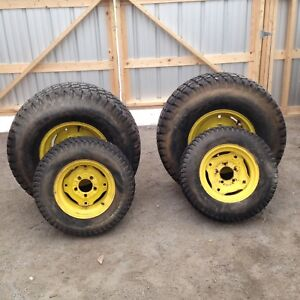 Turf tires for compact tractor