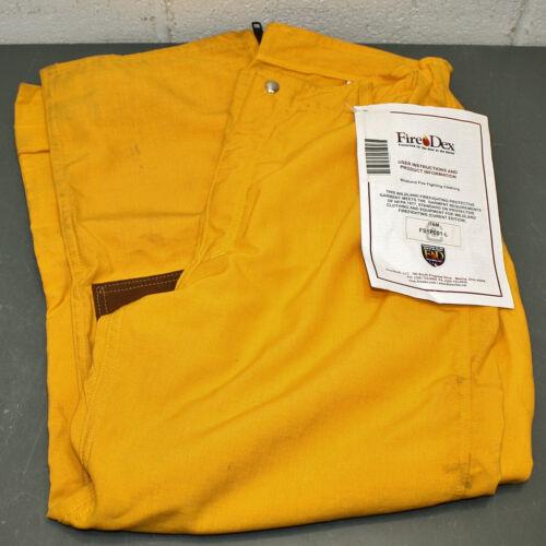 Fire Dex Nomex Firefighter Turnout Pants FS1P001L, L / Large, 38x30, Yellow
