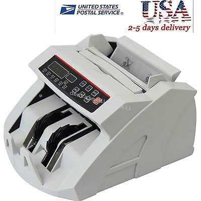 Us Currency Counter Machine Bill Cash Money Dollar Counting Counterfeit Detector
