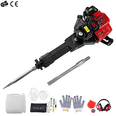 52cc Gas Demolition Jack Hammer Electric Concrete Breaker Punch Drill Jackhammer