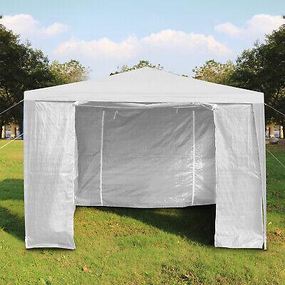 Heavy Duty Gazebo Marquee Canopy Waterproof Garden Party Tent w/Sides White 3x3M