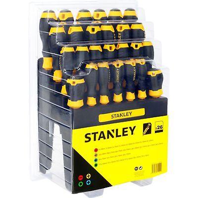 Stanley Schraubendreher-Set, 26-teilig + Ständer/Wandhalter, schwarz