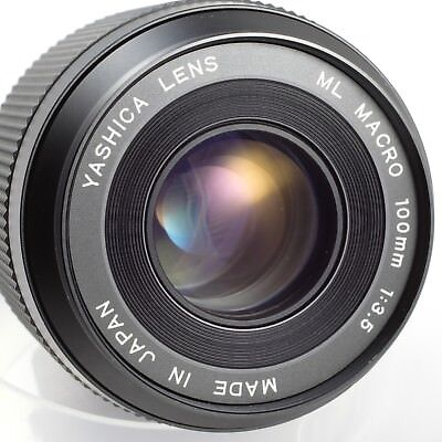 Excellent YASHICA ML Macro 100mm 1:3.5 Lens CONTAX RTS Mount 1:2 Reproduction segunda mano  Embacar hacia Argentina