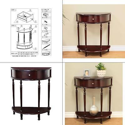 cherry storage end table | espresso half home moon finish frenchi furnishing new