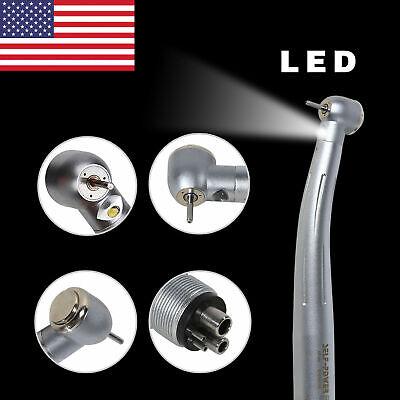 Dental E-generator Fiber Optic High Speed Handpiece Led Turbine 4holes Tip Usps