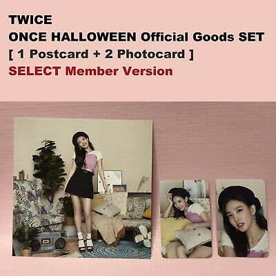 TWICE Official PHOTOCARD + POSTCARD SET Fan Meeting ONCE HALLOWEEN Goods Select](Halloween Photo Card)