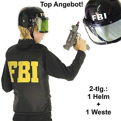 FBI-Set: Weste schwarz + Helm mit Visier Einsatzweste Agent 12223613 - Fbi Agent Kostüm Weste