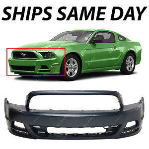 NEW Primered - Front Bumper Fascia Replacement for 2013 2014 Ford Mustang 13-14