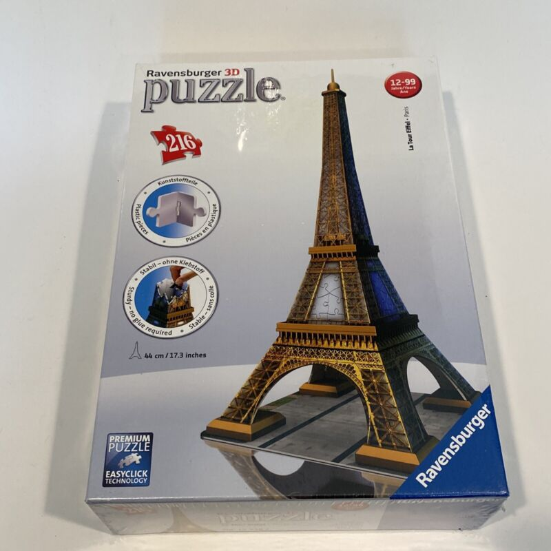 RAVENSBURGER EIFFEL TOWER 216 PC 3D JIGSAW PUZZLE FACTORY SEALED