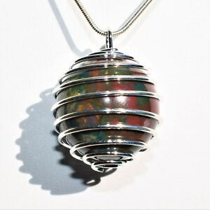 Bloodstone pendant ebay charged bloodstone hand polished sphere perfect pendant 20 mozeypictures Image collections