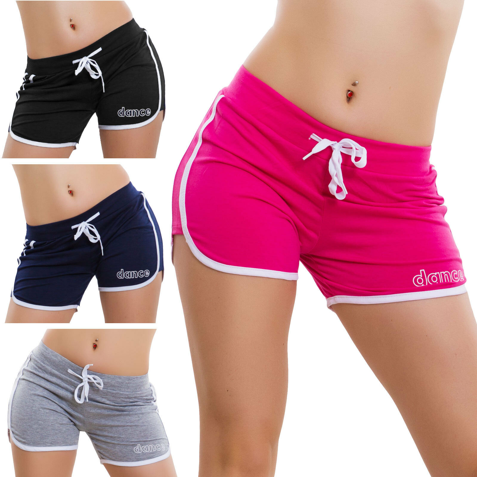 Pantaloncini corti donna shorts hot pants sport leggings fitness cotone R 031