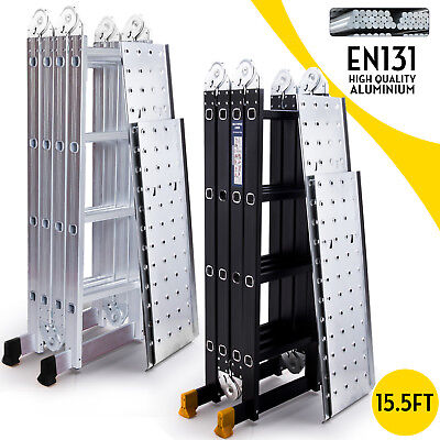 15.5FT Aluminum Multi Purpose Ladder Extension Folding Telescoping (Purpose Extension)