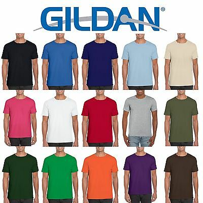 Gildan Softstyle Cotton Plain Blank Mens Womens T Shirts Wholesale Cheap Bulk