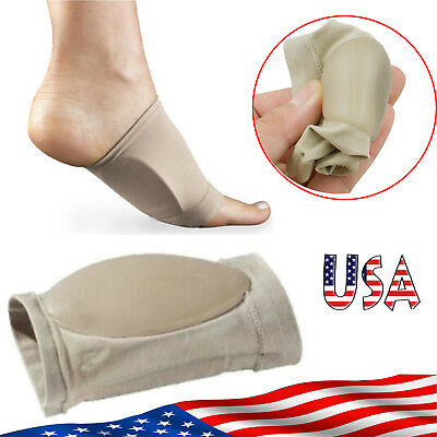 Arch Support Gel Orthotic Insole Plantar Fasciitis Foot Sleeve Cushion...