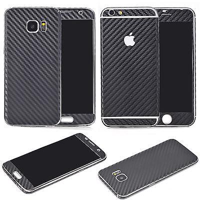iPhone 5 / 5s / SE Carbon Folie Handy Schutz Fullcover Aufkleber Skin Schwarz