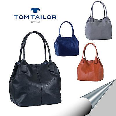 TOM TAILOR: Tasche Shopper Schultertasche Miripu Schwarz Blau, Cognac Taupe  NEU