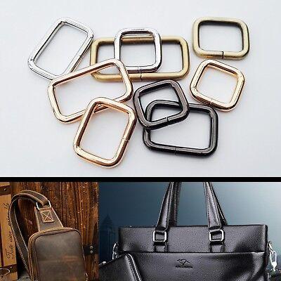 Metal Strong Handbag Leather Bag Purse Strap Belt Web Rectangle O D Ring Buckle