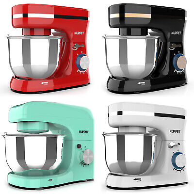 8 Speed Electric Countertop Food Stand Mixer Stainless Steel Bowl Home Kitchen