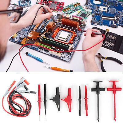 New Multimeter Electronic Test Lead Kit Insulation Piercing Clip Probe For Fluke