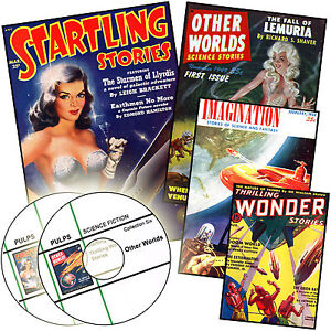 STARTLING + THRILLING WONDER STORIES + OTHER WORLDS + More 173 Sci Fi Pulps DVD