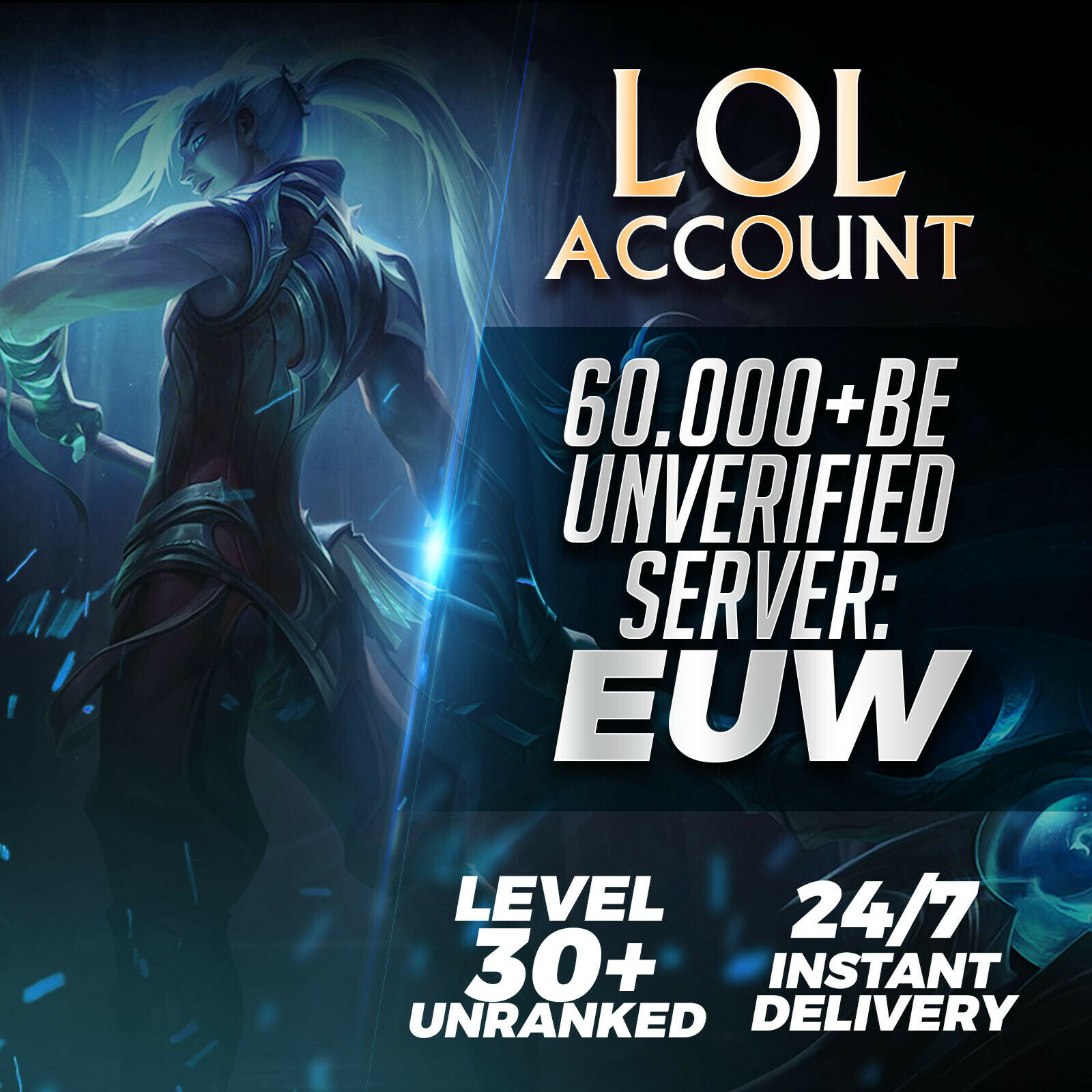 League of Legends Account EUW LOL Smurf 60.000 - 69.000 BE ...