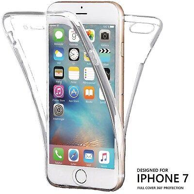 Cover Trasparente per iPhone 7 8 Custodia Fronte Retro 360 Full Body TPU o PANNO