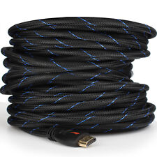 Braided-Short/Long Ultra HD HDMI Cable - 3ft 6ft 10ft 15ft 25ft 30ft 50ft 66ft