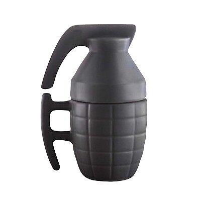 Kaffebecher Becher Kaffee Tasse Handgranate mit Deckel Kaffeebecher Granate (Tasse Mit Deckel)