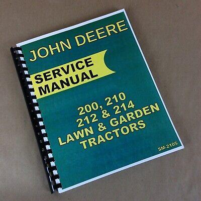 210 John Deere Lawn And Garden Tractor Technical Service Shop Repair Manual Book