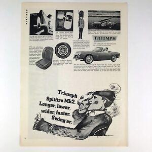 1966 Triumph Spitfire Mk2 Vintage Photo Print Magazine Ad