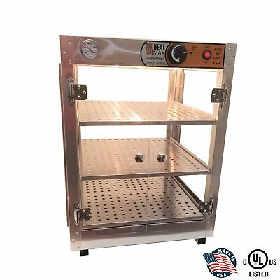 Commercial 18x18x24 Countertop Food Pizza Pastry Warmer Display Case Heatmax