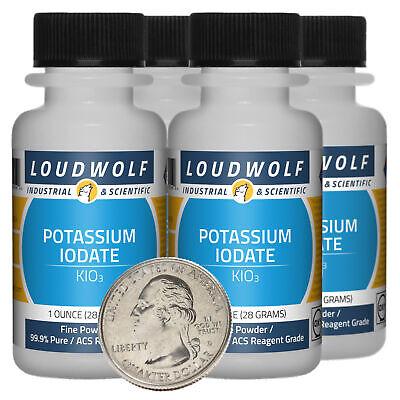 Potassium Iodate / 4 Oz / 4 Bottles / 99.9% Pure ACS Reagent Grade / Fine Powder