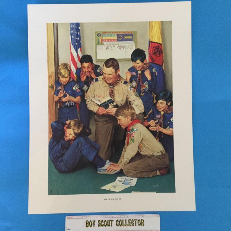 """Boy Scout Joseph Csatari Print 11""""x14"""" You Can Do It"""