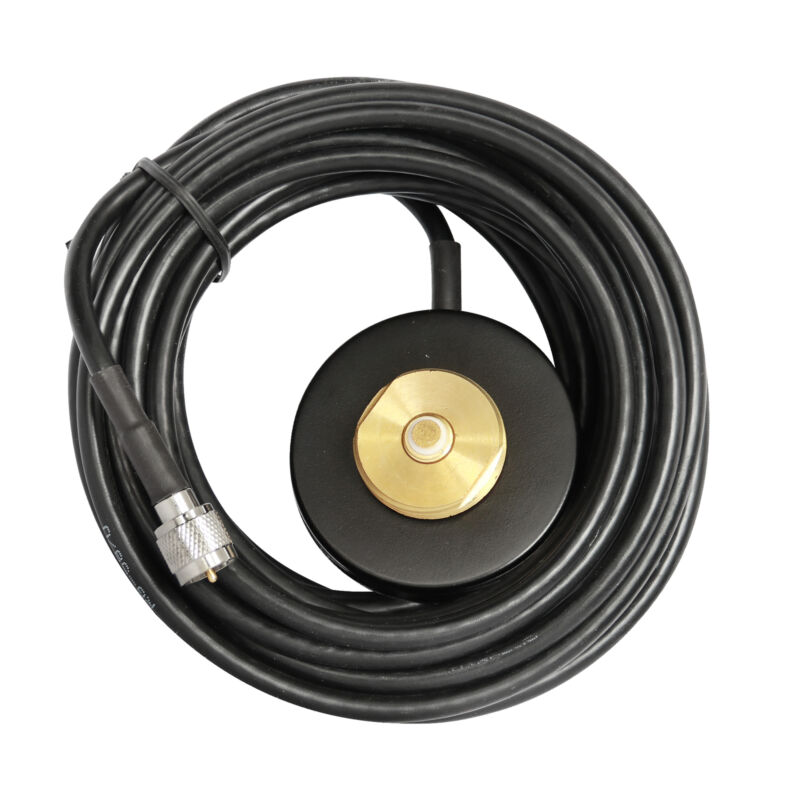 NMO Mount Magnetic base with RG-58 5M Cable & Mini-UHF Plug For Mobile radio