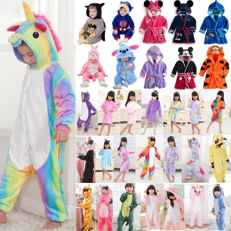 Kinder Jungen Mädchen Kigurumi Pyjama-Set Bademantel Jumpsuit Kostüm Nachtwäsche