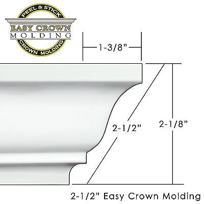 Crown Molding Corners (Peel & Stick Easy Crown Molding - small room Kit - includes pre-made corners.)