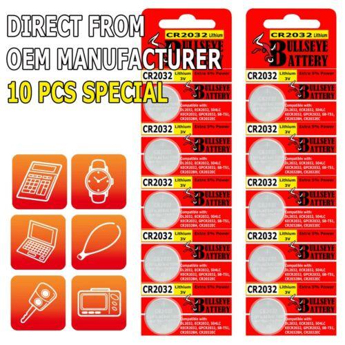 10 x SUPER FRESH Panasonic ECR2032 CR2032 Lithium Battery 3V Coin Cell Exp. 2031