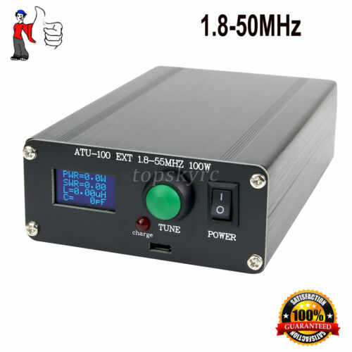 """Automatic Antenna Tuner 100W 1.8-50MHz w/ 0.96"""" OLED ATU100 Assembled W/ Shell"""