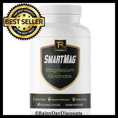 SmartMag Magnesium Glycinate Supplement For Better Sleep, Leg Cramps, (Best Magnesium Supplements For Leg Cramps)