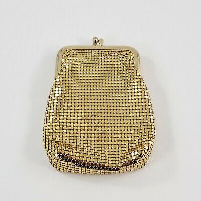 VINTAGE WHITING AND DAVIS GOLD MESH CIGARETTE CASE MADE IN U.S.A. FREE SHIP