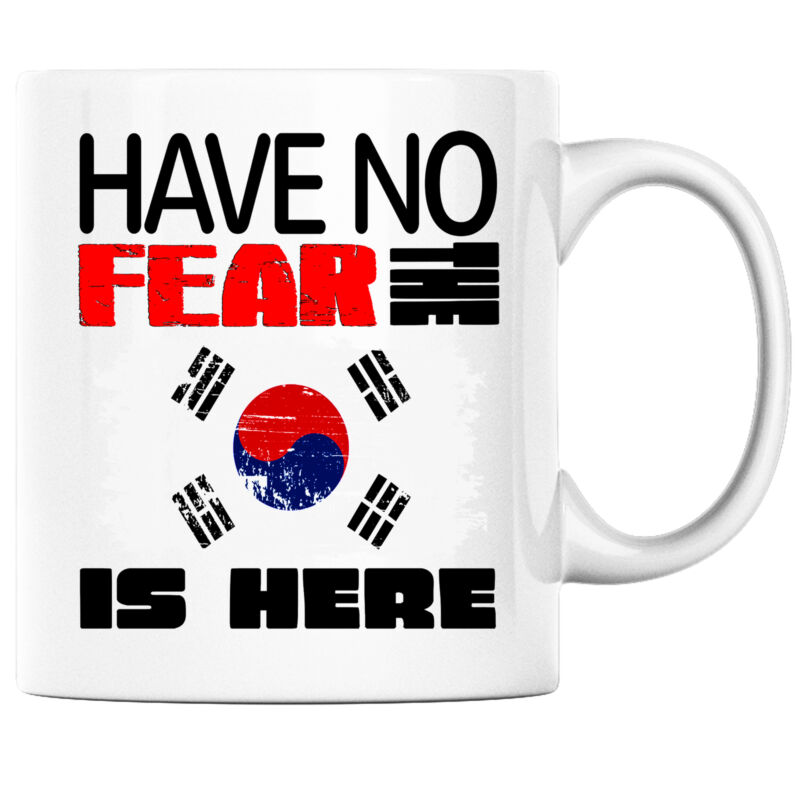 Have No Fear the South Korean is Here Funny Coffee Mug South Korea Heritage