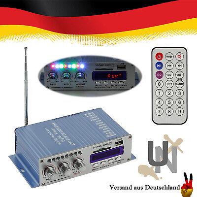 MP3 Auto Moto Boot 12V Mini Hi-Fi Stereo Audio Verstärker Amplifier USB FM Blau Stereo-audio-verstärker