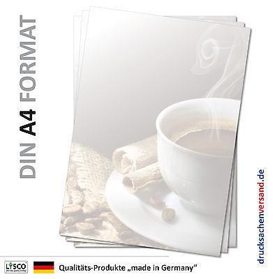 Motivpapier Briefpapier (Kaffee-5071 DIN A4 25 Blatt) Cafe Gastronomie trinken