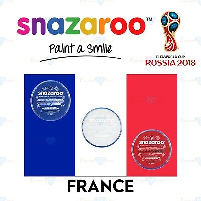 Snazaroo Football France World Cup Red & White Set Face & Body Paint Make Up](Football Halloween Makeup)