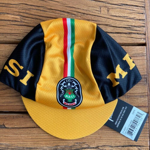 MASI BICYCLES HEX-TEK® Wicking Polyester Team Cycling Cap NEW Bike Hat