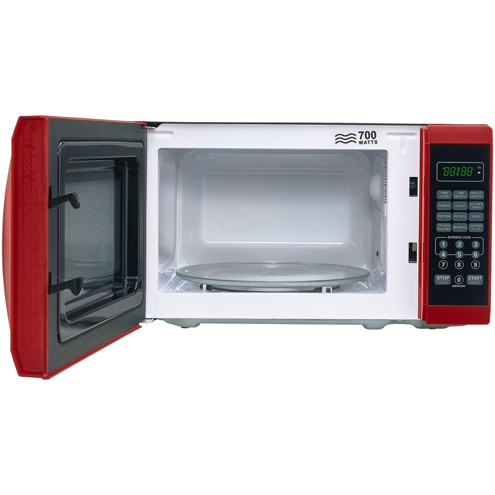 Microwave Oven Countertop With Removable Rotating Glass Turn
