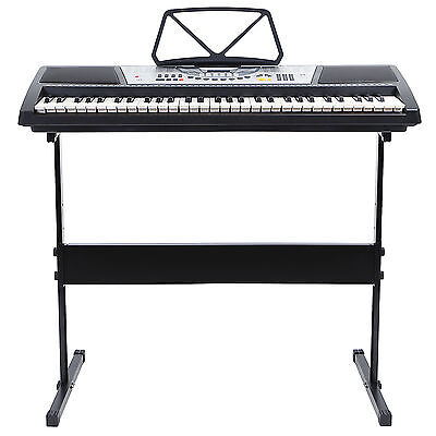 61 Key Electric Music Keyboard Piano with Stand - Digital Organ Key Board Black on Rummage