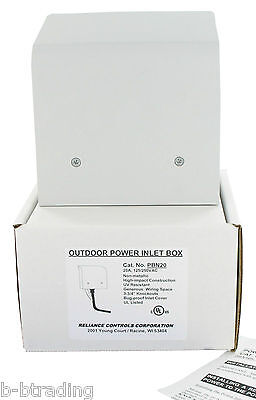 Reliance L14-20 Power Inlet Box For Generator Cords Ul Pbn20 Non Metallic Pb20