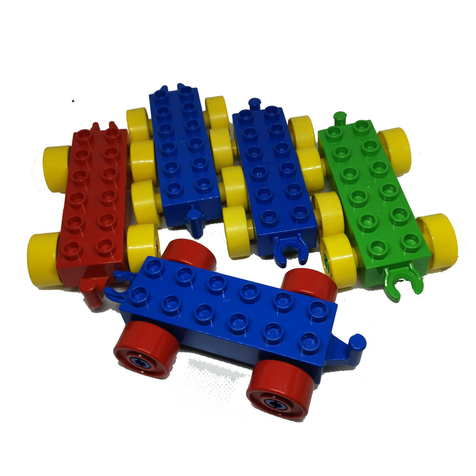 LEGO® Duplo 5 Anhänger Auto Wagen Hänger Spielzeug Zug