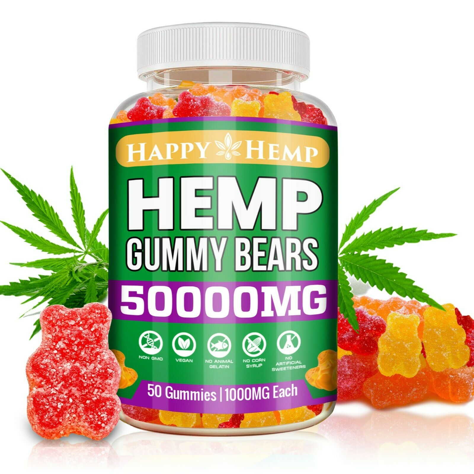 Natural Gummies  - Great Relief for Pain, Stress & Anxiety Vitamin Sleep Bear